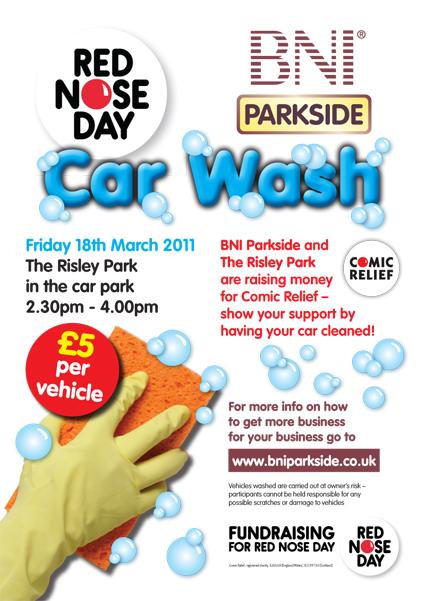 BNI Parkside CR Car Wash Poster